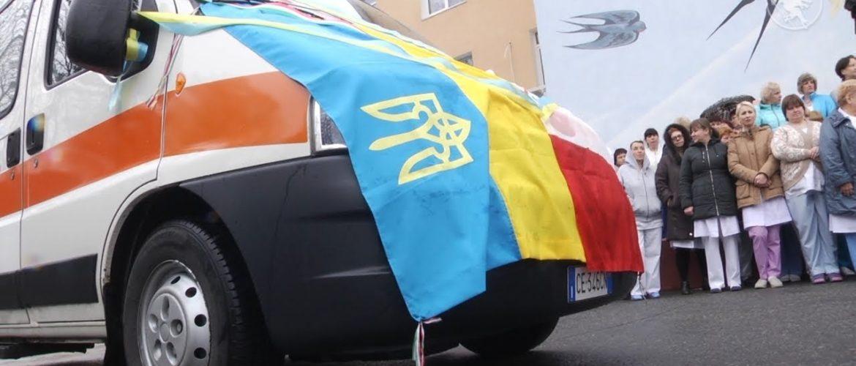 UA: ЧЕРНІГІВ.Чернігівському медичному центру сучасної онкології італійці подарували машину швидкої допомоги